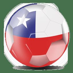 Bola de bandeira do chile