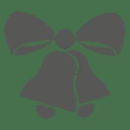 Christmas bells ribbon icon