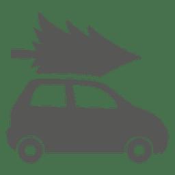 Árvore de natal no carro
