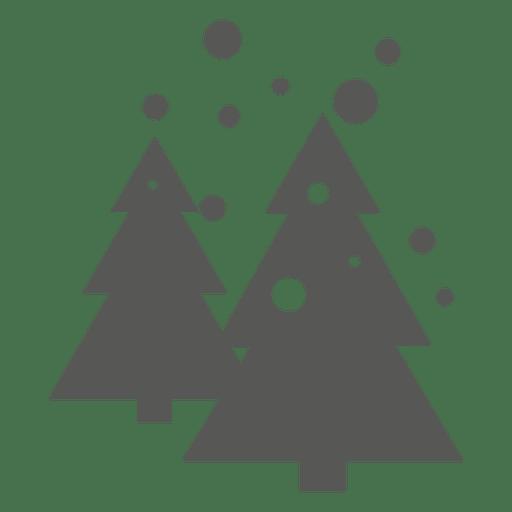 Icono de arboles de navidad Transparent PNG