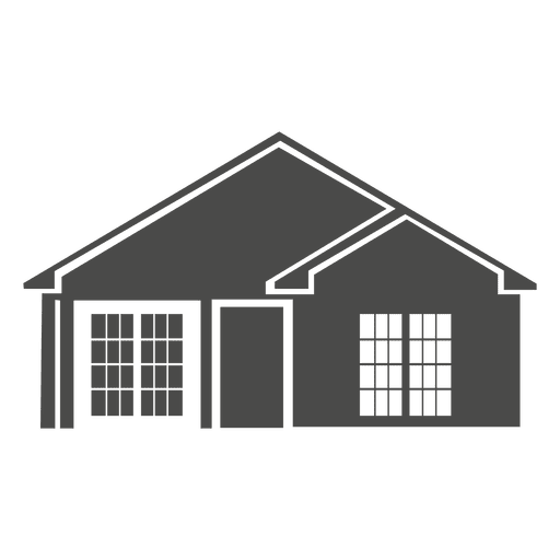 Classic house silhouette 1 Transparent PNG