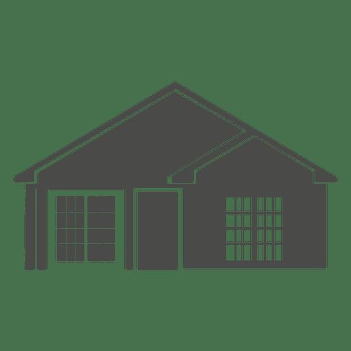 Silueta de casa clásica 1