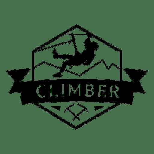Insignia de hexágono escalador Transparent PNG