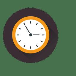Logotipo do ícone do círculo do relógio plano
