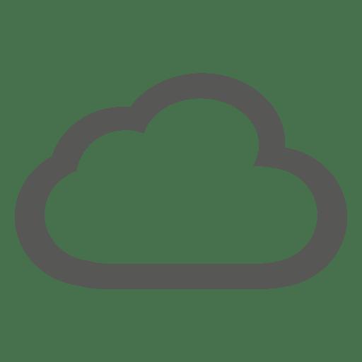 Icono de contorno de nube Transparent PNG