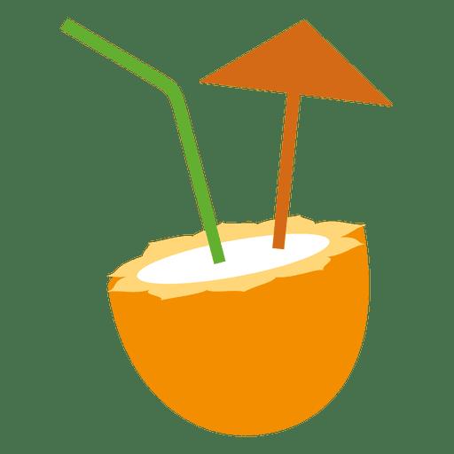 Coctel de coco Transparent PNG