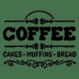 Café emblema decorativo