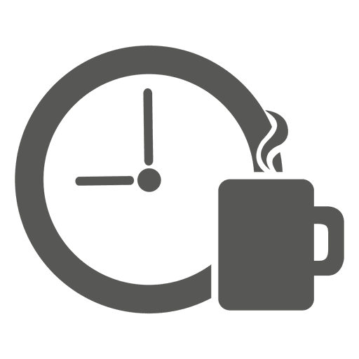 Icono de descanso de café
