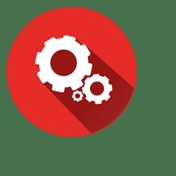 Icono de círculo de ruedas dentadas 3