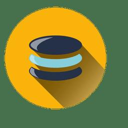 Ícone de círculo de moedas