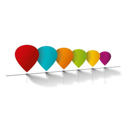 Colorful balloons infographic diagram Transparent PNG