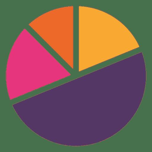 Carta de torta colorida de quatro porções Transparent PNG