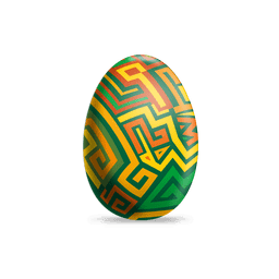 Colorful labyrinth easter egg