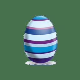 Colorido huevo de pascua de líneas