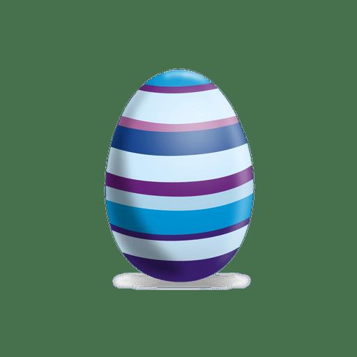 Huevo de pascua de l?neas coloridas
