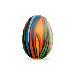 Colorful paints easter egg