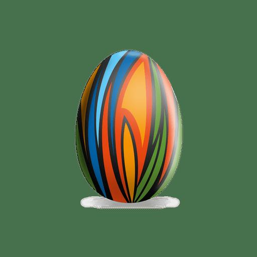 Huevo de Pascua de pinturas de colores