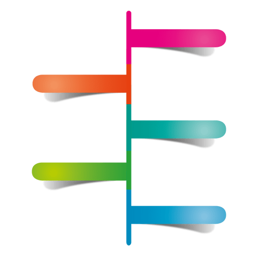 Colorful sticker pointer diagram Transparent PNG