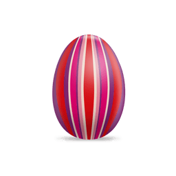 Huevo de Pascua de rayas coloridas en 3D