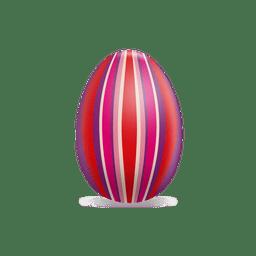 Listras coloridas ovo de páscoa em 3D