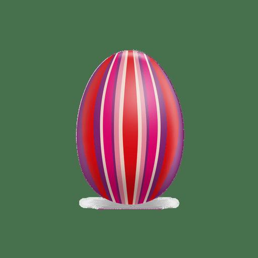 Huevo de pascua de rayas de colores en 3D