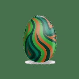 Olas coloridas huevos de pascua
