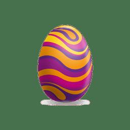 Ovo de Páscoa ondas coloridas 1