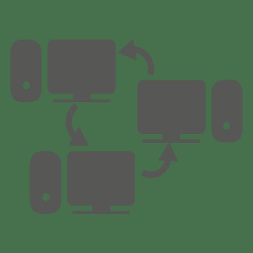 Ícone de redes de computadores Transparent PNG