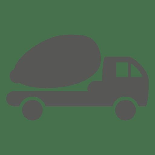 Ícone lateral do caminhão betoneira Transparent PNG