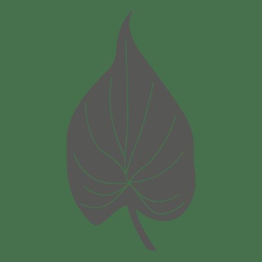 Cordate Line Sketch Leaf Silhouette Transparent Png Svg Vector File