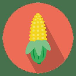 ícone círculo plano de milho