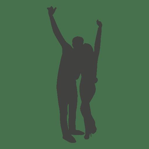 Couple celebrating silhouette Transparent PNG