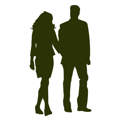 couple silhouette 4 transparent png svg vector