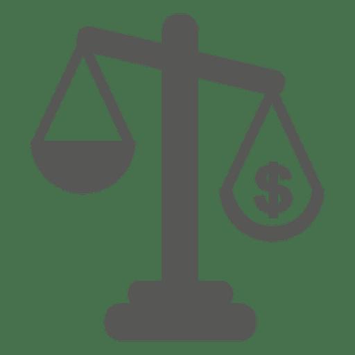 Court scale judgement icon - Transparent PNG & SVG vector