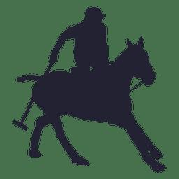 Silhueta de rodeio de vaqueiro