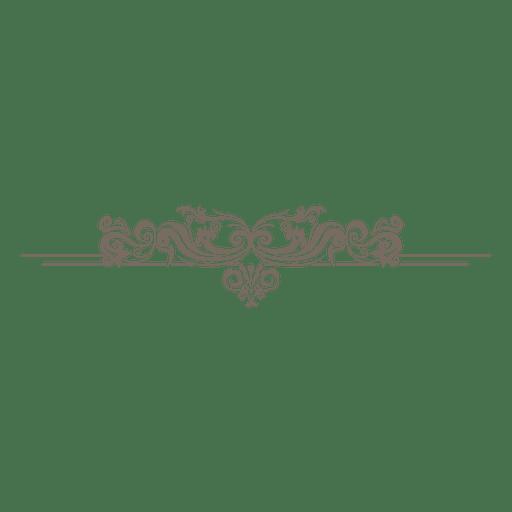 Creative floral ornate divider Transparent PNG