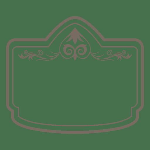 Creative floral rectangular border Transparent PNG