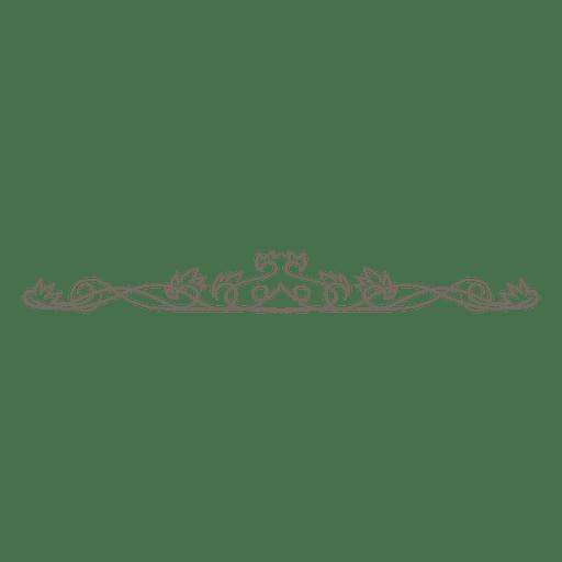Divisor floral creativo de los remolinos Transparent PNG