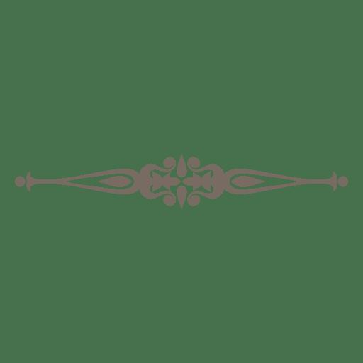 Ornamento criativo redemoinhos divisor Transparent PNG