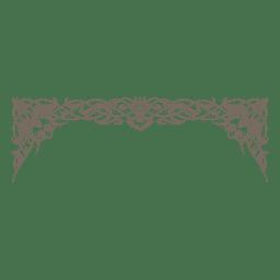 Decorativo marco decorativo adornado.