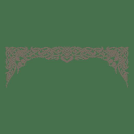 Decorativo marco decorativo adornado. Transparent PNG