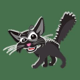 Gruselige Halloween-Katzenillustration