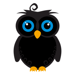 Desenhos animados da coruja assustador
