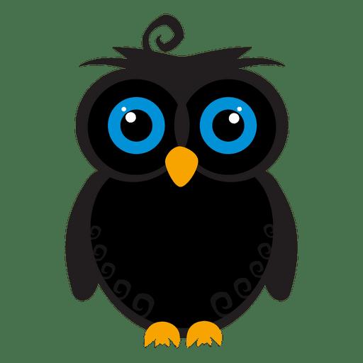 Creepy owl cartoon