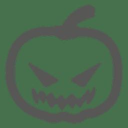 Gruselige Kürbis-Symbol