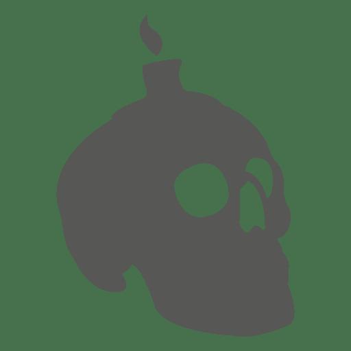 Crânio assustador com vela Transparent PNG
