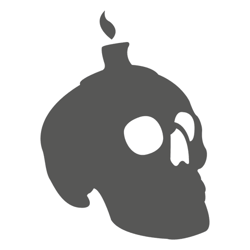 Creepy skull with candle Transparent PNG