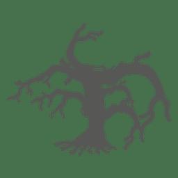 Gekrümmter frequentierter Halloween-Baum