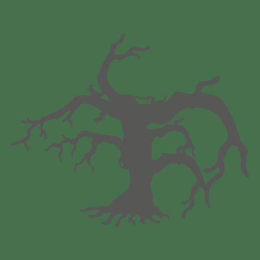 Crooked haunted halloween tree