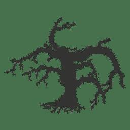 Dibujos animados de árbol torcido 4